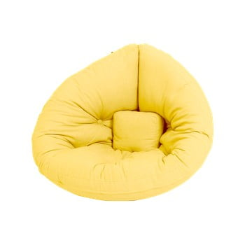 Fotoliu extensibil pentru copii Karup Design Mini Nido Yellow imagine