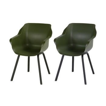 Set 2 scaune de grădină Hartman Sophie, verde imagine