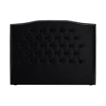 Tăblie pentru pat Mazzini Sofas Cloves, 200 x 120 cm, negru poza bonami.ro