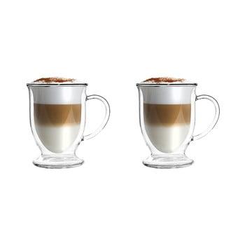 Set 2 căni din sticlă dublă pentru latte Vialli Design, 250 ml poza bonami.ro