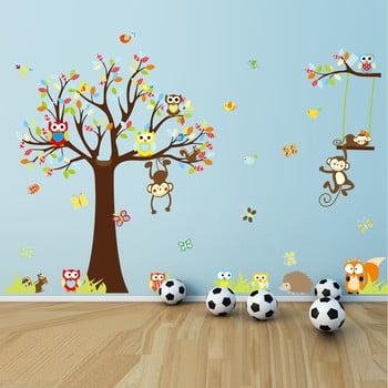 Set autocolante Ambiance Cute Monkeys Playing On Trees bonami.ro