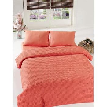 Cuvertură de pat Coral Pique, 200 x 240 cm, portocaliu bonami.ro