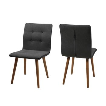 Set 2 scaune Actona Frida, antracit imagine