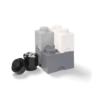 Set 4 cutii de depozitare din plastic LEGO®, 25 x 25 x 33 cm poza bonami.ro