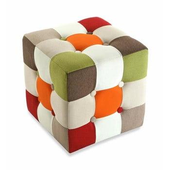 Taburet din bumbac Versa Red Cube bonami.ro