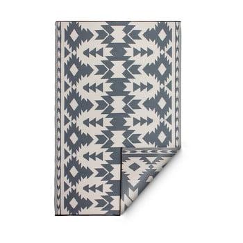 Covor reversibil pentru exterior din plastic reciclat Fab Hab Miramar Gray, 150 x 240 cm, gri imagine
