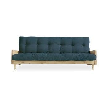 Canapea extensibilă Karup Design Indie Natural/Deep Blue, albastru închis imagine