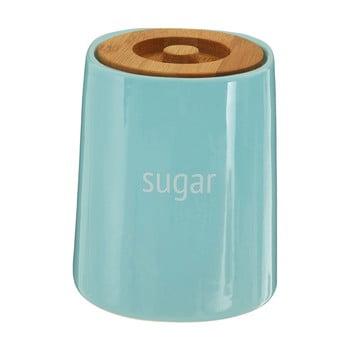 Recipient pentru zahăr cu capac din lemn de bambus Premier Housewares Fletcher, 800 ml, albastru poza bonami.ro