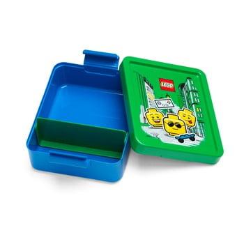 Cutie pentru gustare cu capac verde LEGO® Iconic, albastru poza bonami.ro