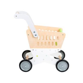 Cărucior de cumpărături din lemn pentru copii Legler Shopping bonami.ro