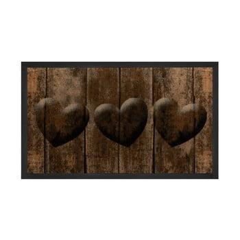 Covor Hanse Home Hearts, 45 x 75 cm, maro poza bonami.ro