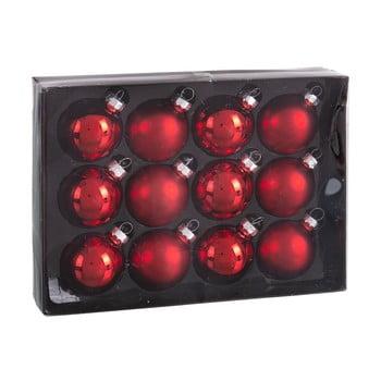 Set 12 decorațiuni de Crăciun Unimasa Brightness, roșu bonami.ro