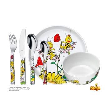 Set masă din 6 piese pentru copii WMF Cromargan® Včelka Mája bonami.ro