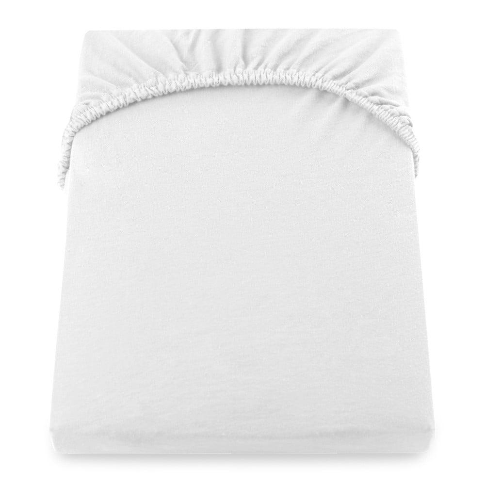 Cearșaf de pat DecoKing Amber Collection, 80-90 x 200 cm, alb