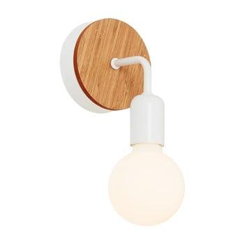Aplică cu detalii din lemn Homemania Valetta, alb bonami.ro