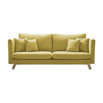 Canapea extensibilă Bobochic Paris Triplo, galben bonami.ro