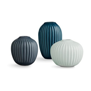 Set 3 vaze din gresie ceramică Kähler Design Hammershoi Miniature Cold Palette bonami.ro