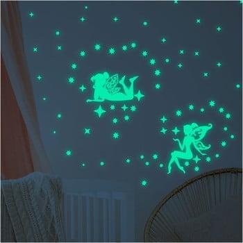 Set autocolante fosforescente de perete Ambiance Glow In The Dark Big Fairies bonami.ro