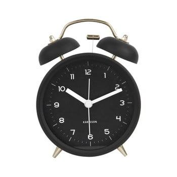 Ceas alarmă Karlsson Classic, negru, ⌀ 10 cm bonami.ro