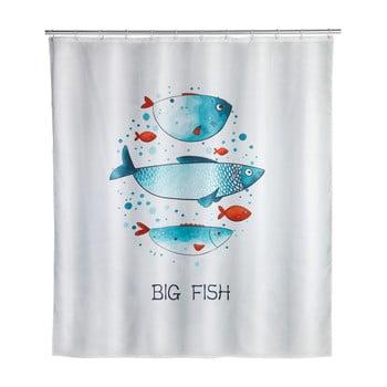 Perdea de baie lavabilă Wenko Big Fish, 180x200cm poza bonami.ro