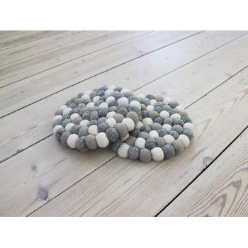 Suport pahar, cu bile din lână Wooldot Ball Coaster, ⌀ 20 cm, alb - gri deschis bonami.ro