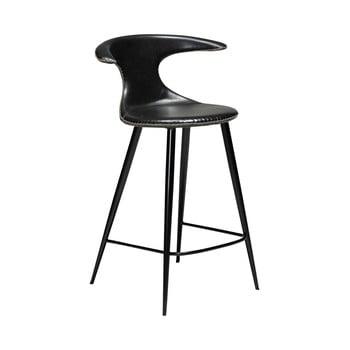 Scaun bar din piele ecologică DAN–FORM Denmark Flair, negru, înălțime 90 cm bonami.ro