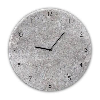 Ceas de perete Styler Glassclock Concrete II, ⌀ 30 cm poza bonami.ro