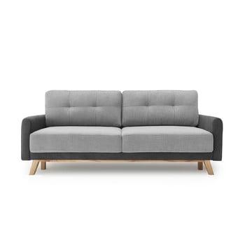 Canapea extensibilă Bobochic Paris Balio, gri deschis poza bonami.ro