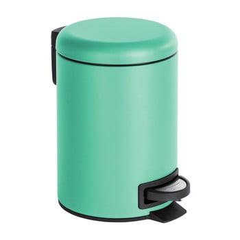 Coș de gunoi cu pedală Wenko Leman, 3 l, verde mentă bonami.ro
