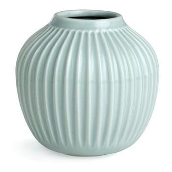 Vază din gresie Kähler Design Hammershoi, mică, verde mentă, înălțime 12,5 cm poza bonami.ro