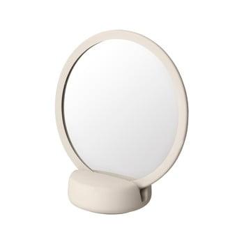 Oglindă cosmetică pentru masă Blomus, înălțime 18,5 cm, crem deschis bonami.ro