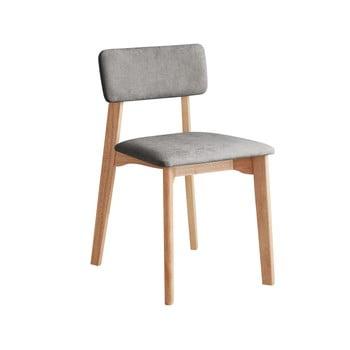 Scaun de birou cu șezut textil DEEP Furniture Max, gri deschis imagine