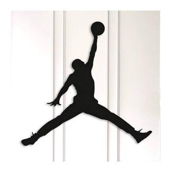 Decorațiune metalică de perete Basketball, negru poza bonami.ro