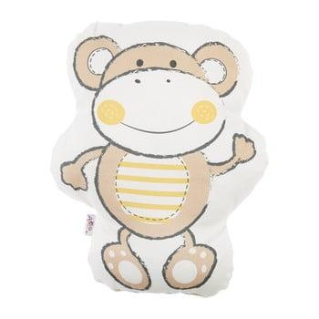 Pernă din amestec de bumbac pentru copii Mike&Co.NEWYORK Pillow Toy Beatto, 31 x 36 cm, maro poza bonami.ro