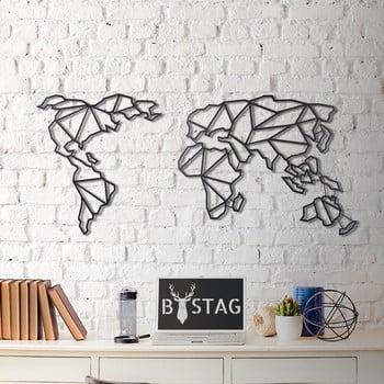 Decorațiune din metal pentru perete Map, 60 x 130 cm poza bonami.ro