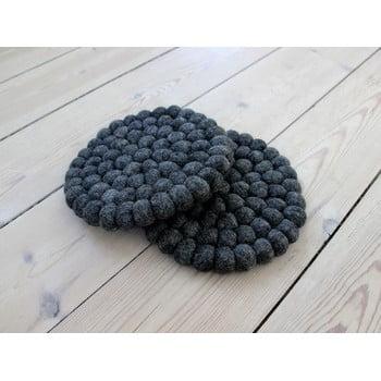 Suport pahar, cu bile din lână Wooldot Ball Coaster, ⌀ 20 cm, antracit bonami.ro