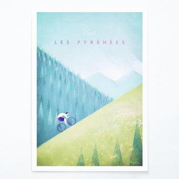 Poster Travelposter Les Pyrenees, A3 bonami.ro