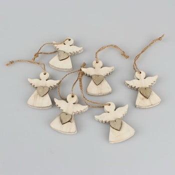 Set 6 decorațiuni suspendate în formă de înger Dakls Edward bonami.ro