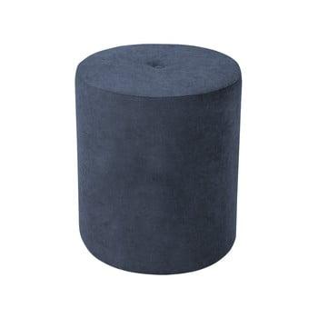 Puf Kooko Home Motion, ø 40 cm, albastru închis-bej bonami.ro