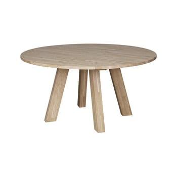 Masă dining din lemn de stejar WOOOD Rhonda, ⌀ 150 cm imagine