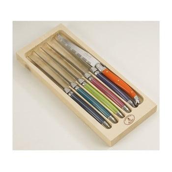 Set 6 cuțite din inox pentru friptură, în cutie de lemn London Jean Dubost London bonami.ro