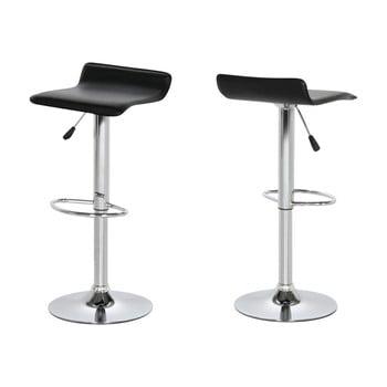 Set 2 scaune bar Actona Dan, negru imagine