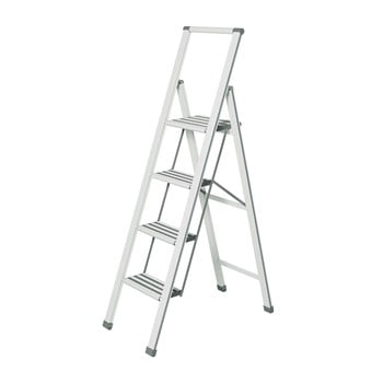 Scără pliantă Wenko Ladder, înălțime 153 cm, alb bonami.ro