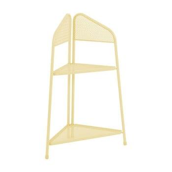 Etajeră metalică pe colț pentru balcon ADDU MWH, înălțime 100 cm, galben poza bonami.ro