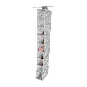 Organizator suspendat cu 9 compartimente Compactor Vetements, lățime 15 cm, gri deschis poza bonami.ro
