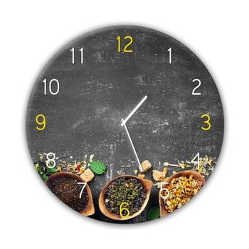 Ceas de perete Styler Glassclock Tea, ⌀ 30 cm bonami.ro