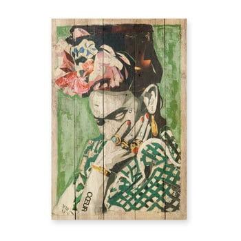 Tablou din lemn de pin Madre Selva Frida Coeur, 40 x 60 cm bonami.ro