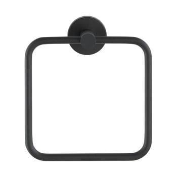 Suport de perete pentru prosoape din oțel inoxidabil Wenko Mezzano Ring, negru poza bonami.ro