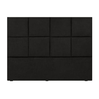 Tăblie pat Mazzini Sofas Barletta, 200 x 120 cm, negru poza bonami.ro