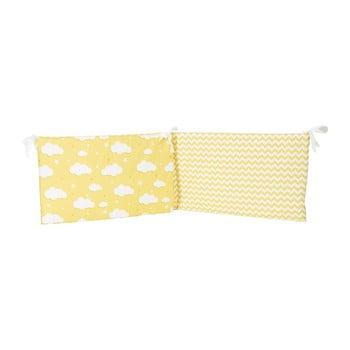 Protecție din bumbac pentru patul copiilor Mike&Co.NEWYORK Carino, 40 x 210 cm, galben poza bonami.ro